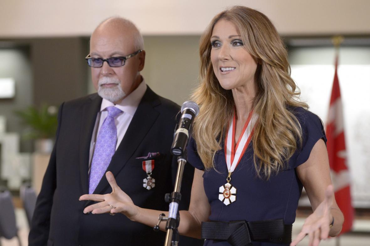 Celine Dion s manželem René Angélilem