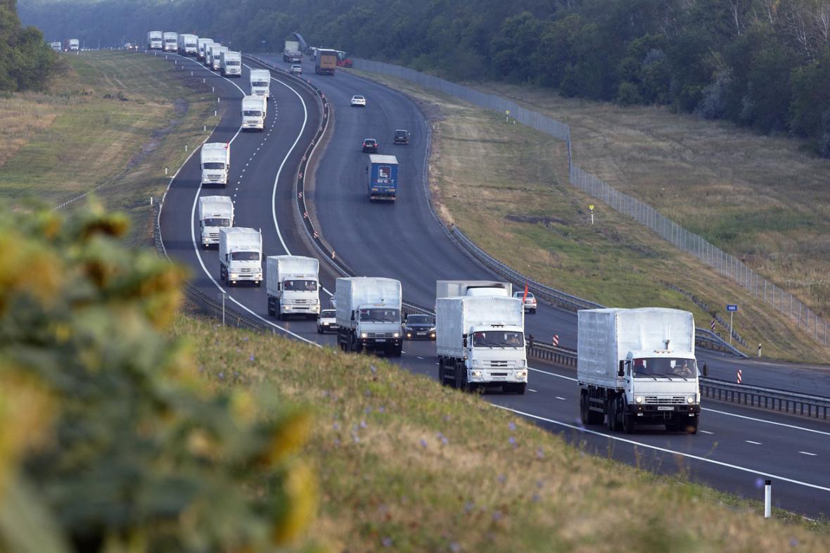 Ruský humanitární konvoj pro Ukrajinu