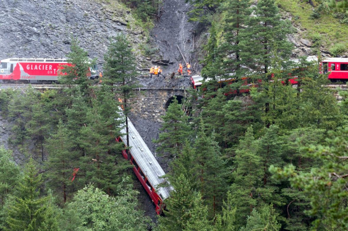 Nehoda vlaku ve Švýcarsku