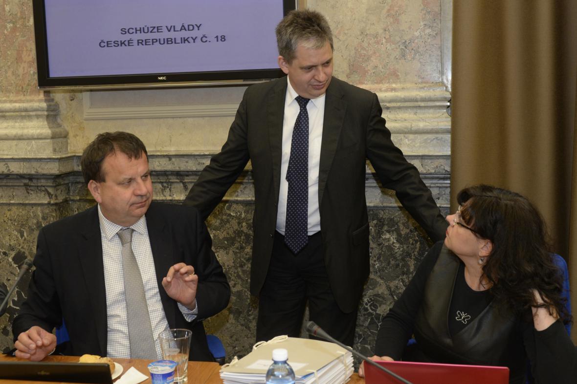 Jan Mládek, Jiří Dienstbier a Michaela Marksová