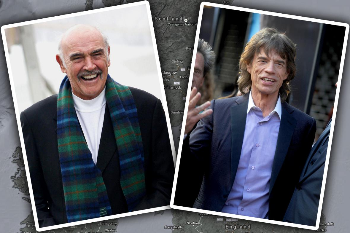 Sean Connery a Mick Jagger