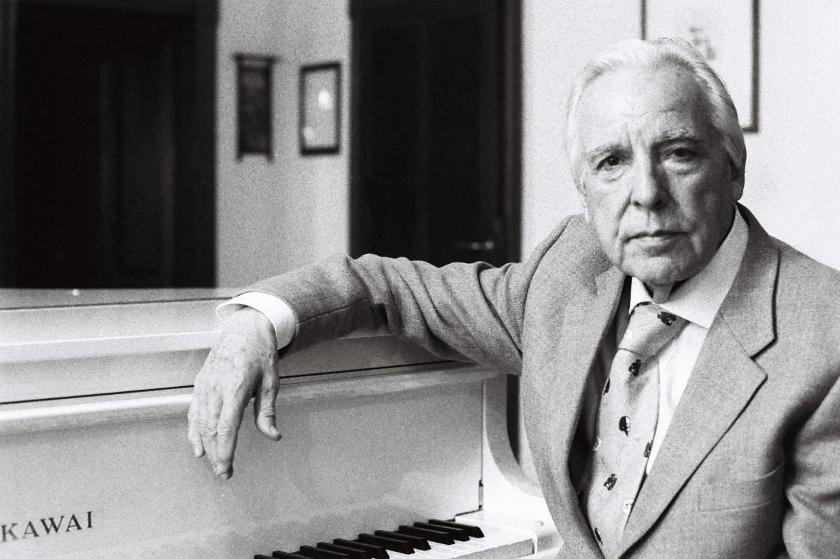 Italský hudební skladatel, dirigent a klavírista Giorgio Gaslini