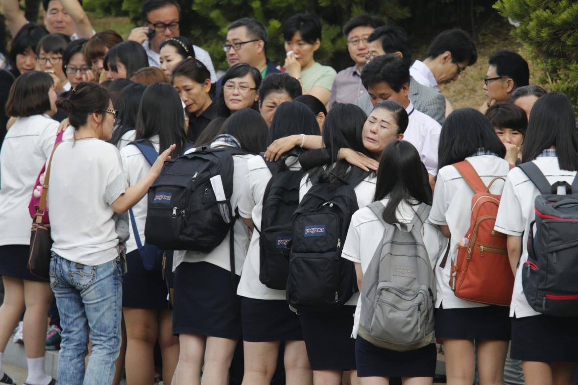 Zachránění studenti ze Sewolu