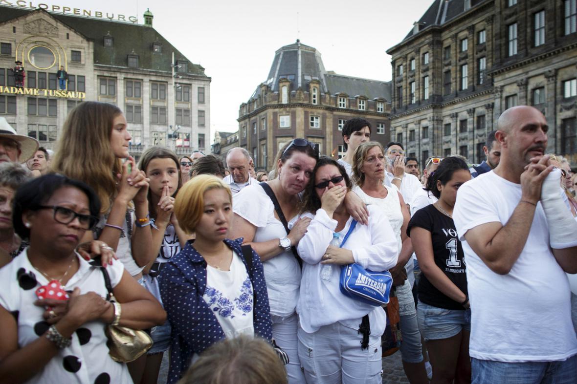 Amsterodamské pietní shromáždění na památku obětí letu MH17