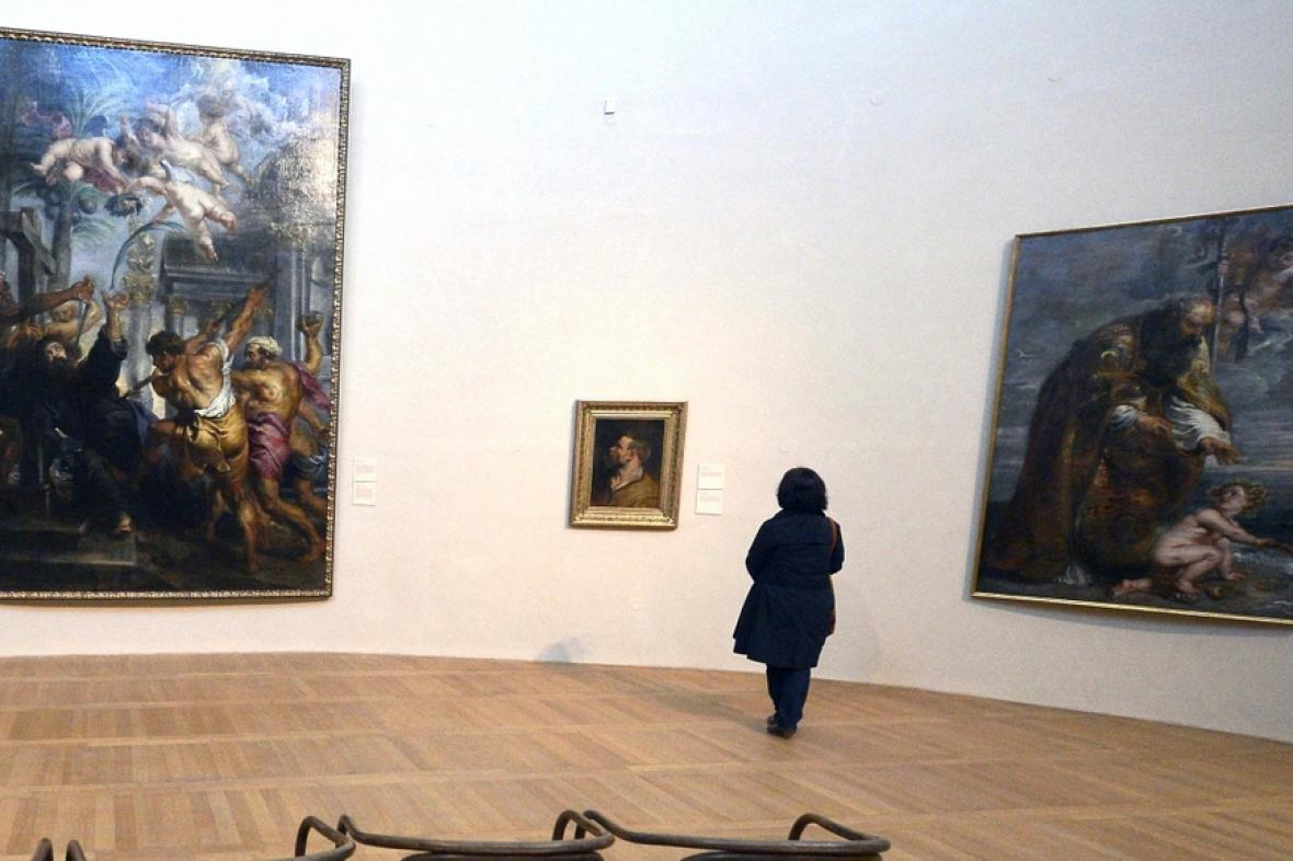 Rubensovo Umučení sv. Tomáše (vlevo) a Sv. Augustin (vpravo)