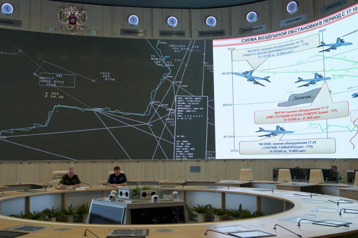 Moskva předložila důkazy o přítomnosti ukrajinské stíhačky u malajsijského boeingu