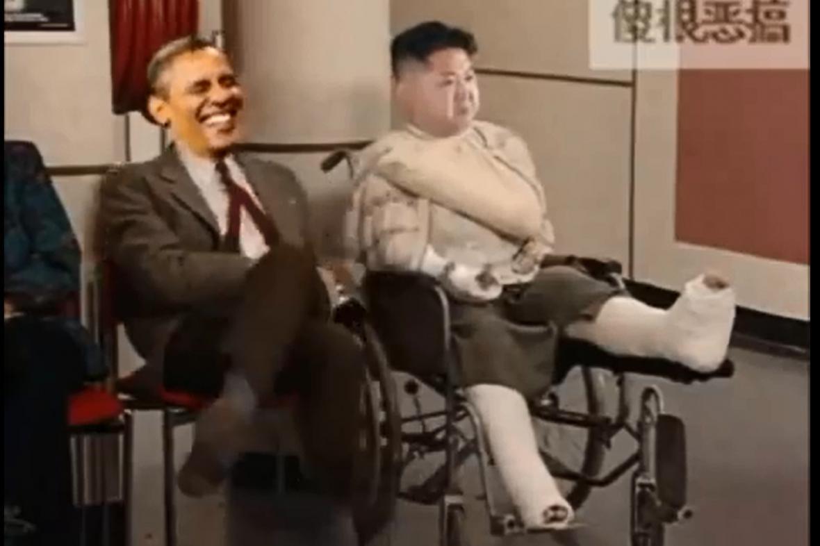 Video, které zesměšňuje severokorejského vůdce