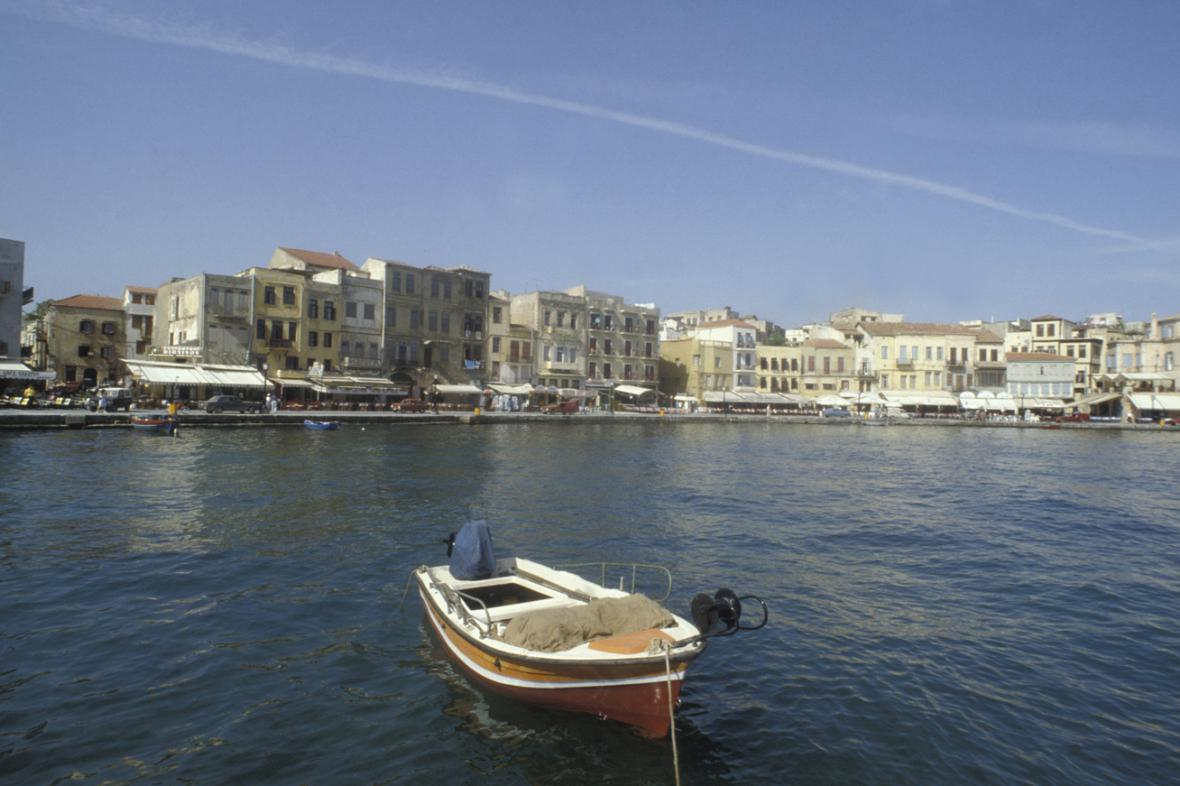 Krétský přístav Chania