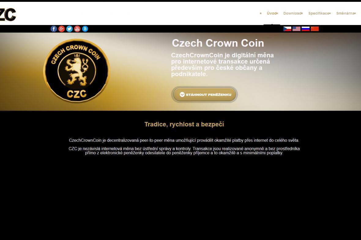 Webové stránky CzechCrownCoin