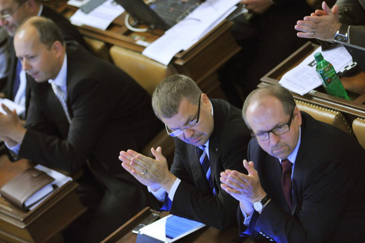 Marek Šnajdr, Petr Tluchoř a Ivan Fuksa