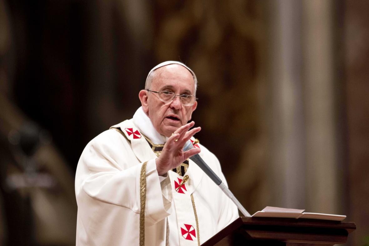 Papež František při velikonoční mši