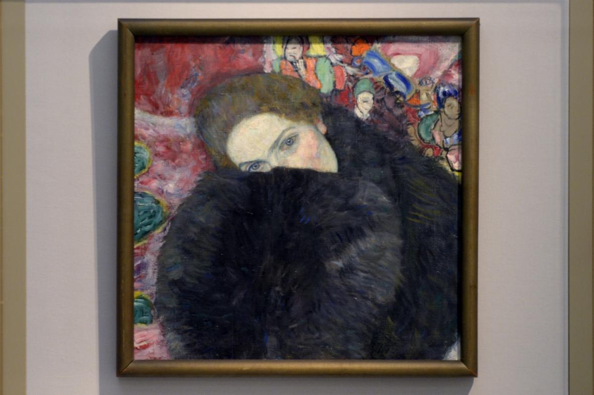 Gustav Klimt / Dáma s rukávníkem, 1916-17
