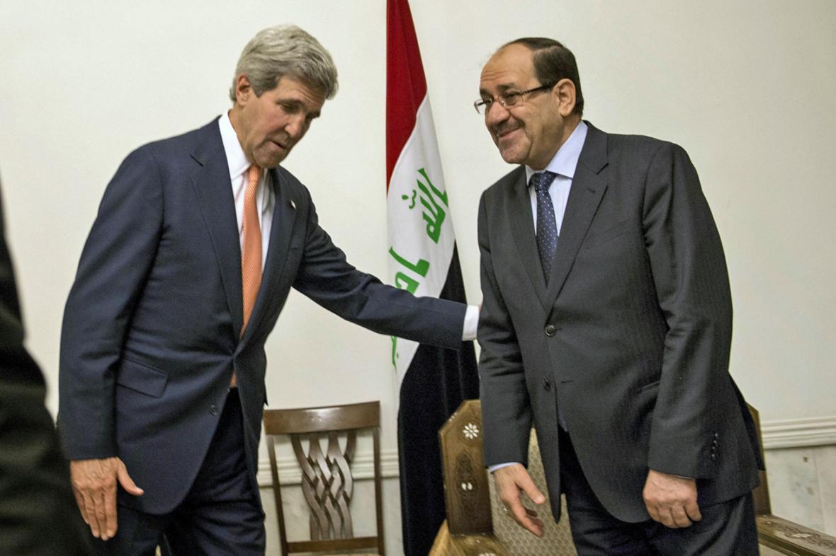 John Kerry a Núrí Málikí