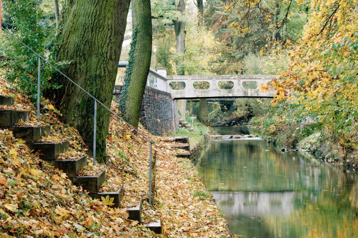 Nábřeží řeky Loučné, Litomyšl (z výstavy Czechscape)