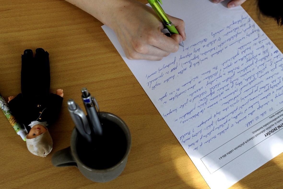 Písemná část maturitní zkoušky z češtiny