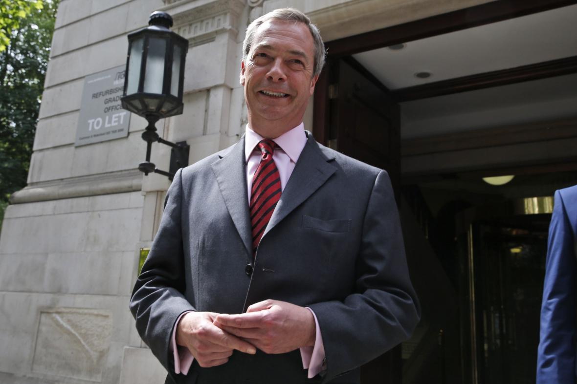 Šéf britské strany UKIP Nigel Farage