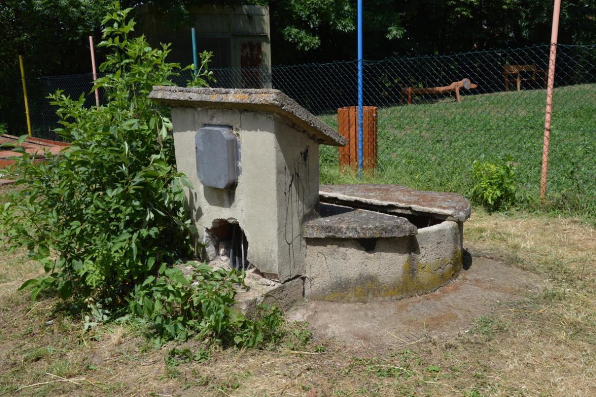 Studna v areálu mateřské školy