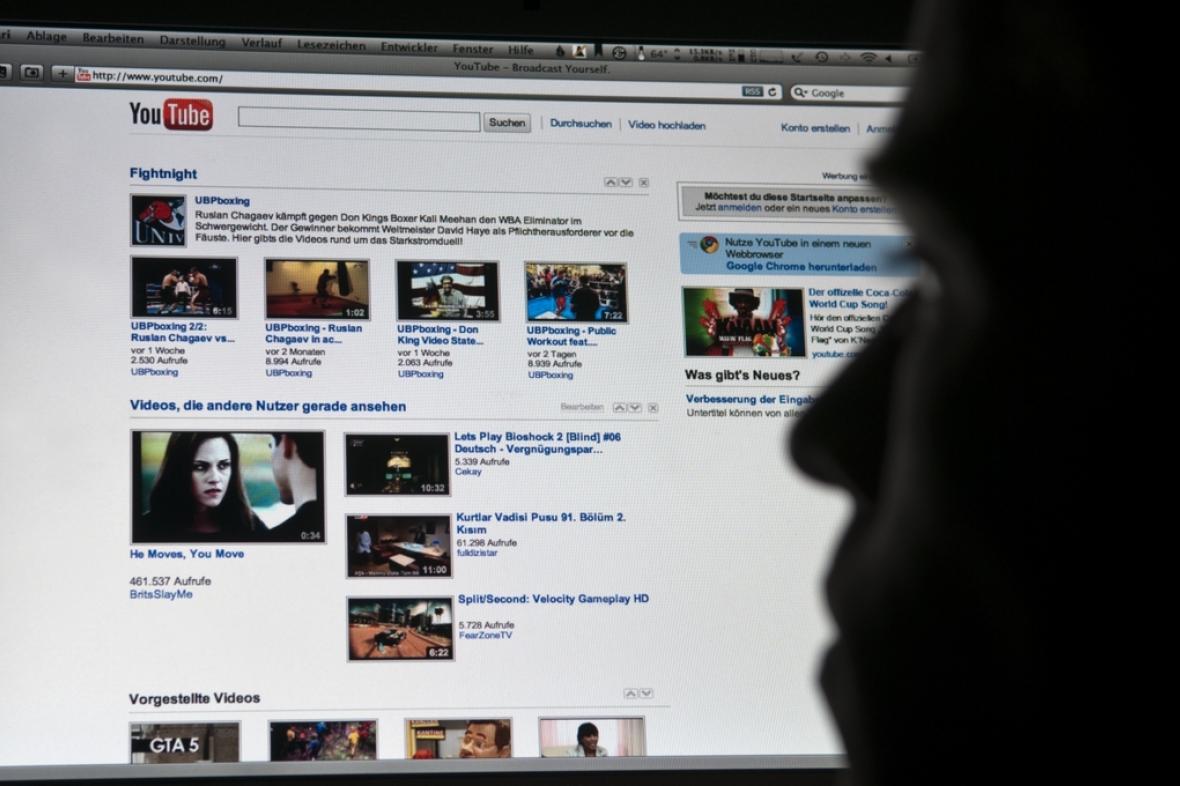 Sledování serveru YouTube