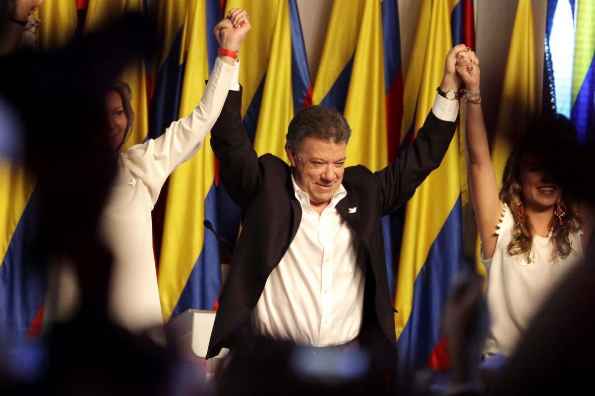 Juan Manuel Santos obhájil prezidentský mandát