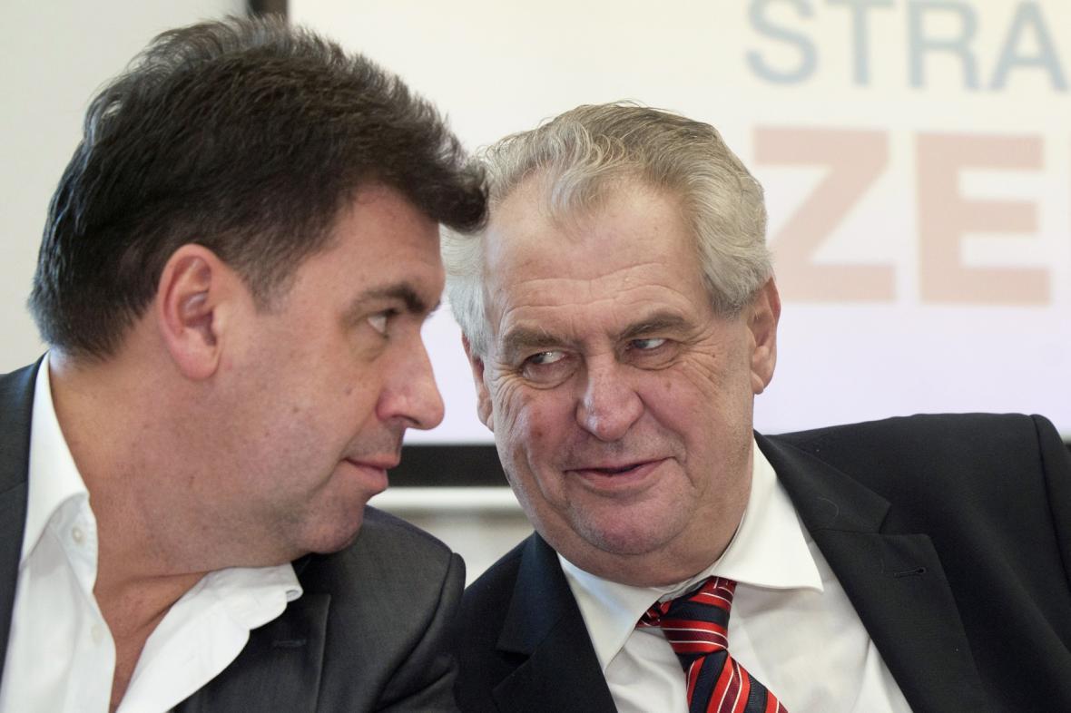 Martin Nejedlý a Miloš Zeman