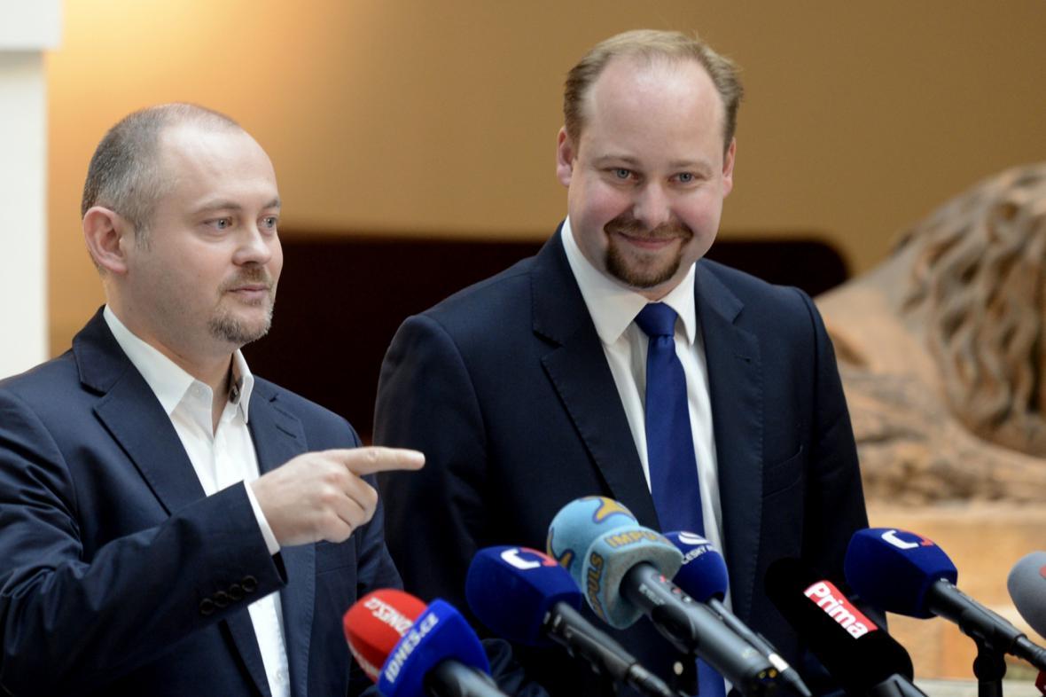 Michal Hašek a Jeroným Tejc