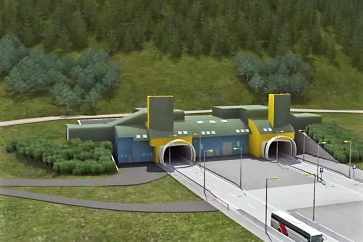 Vizualizace tunelu Višňové