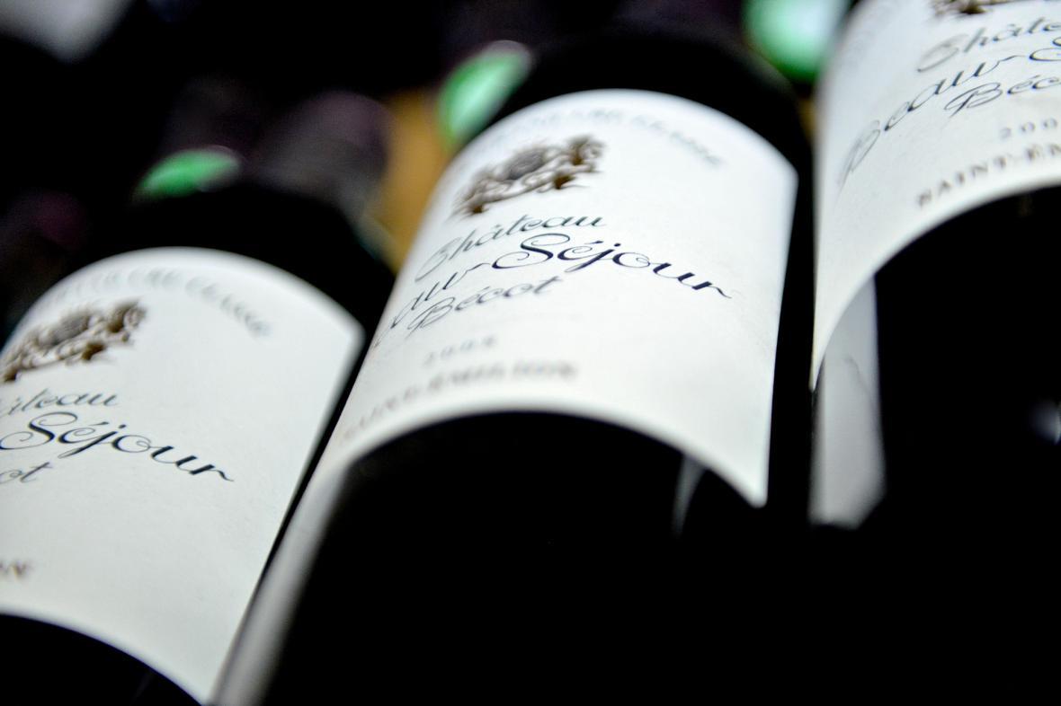 Lahve vína