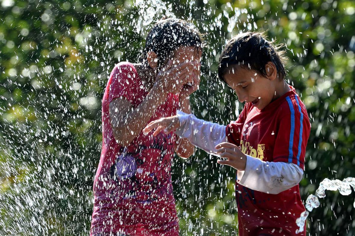 Děti vedro milují