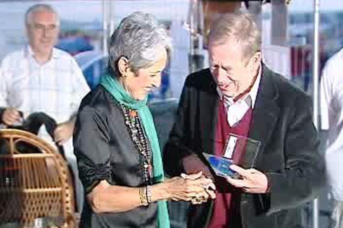 Joan Baezová a Václav Havel