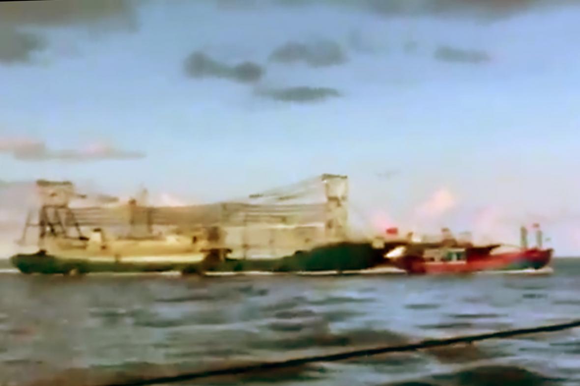 Srážka čínské lodi s vietnamským člunem