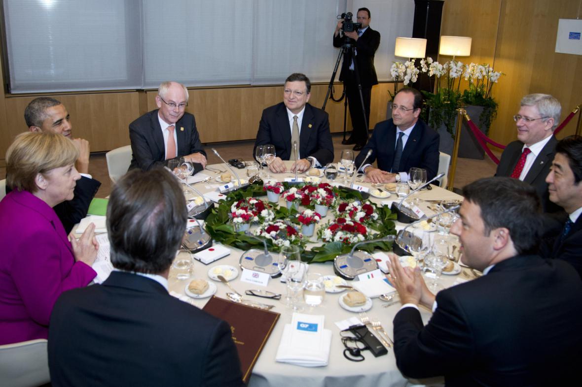 Jednání lídrů G7 v Bruselu