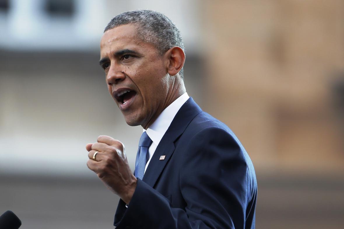 Barack Obama při svém varšavském projevu