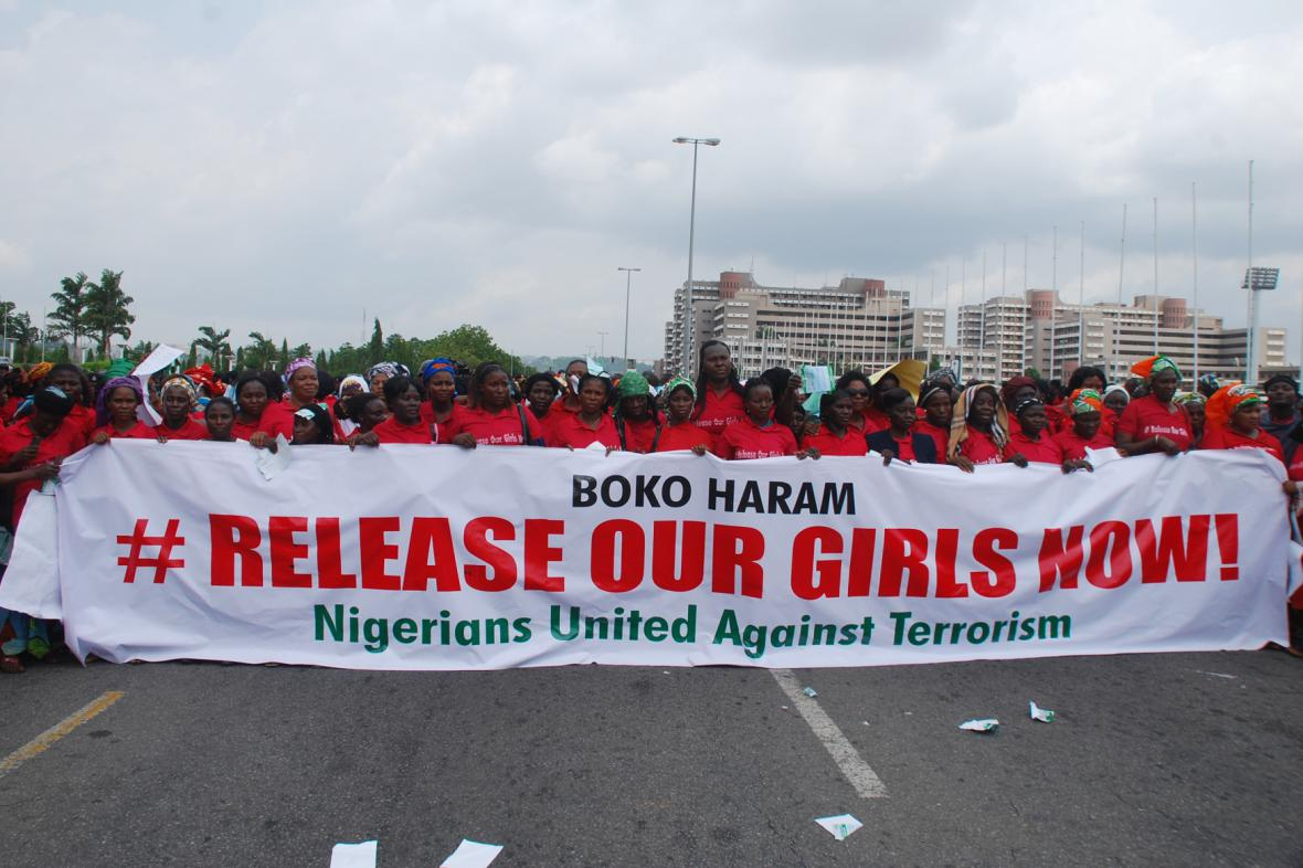 Demonstrace za propuštění nigerijských dívek