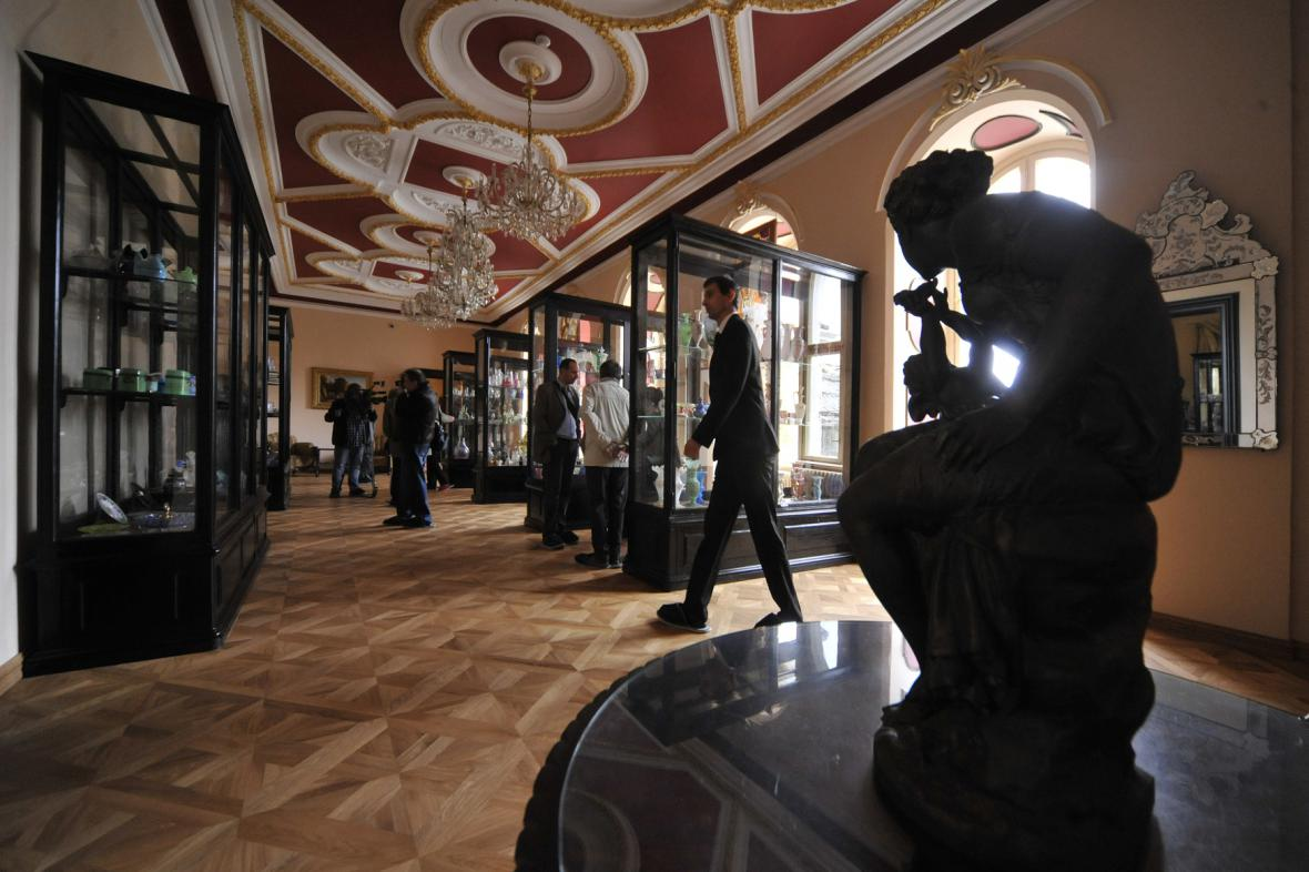 Expozice historického skla ve Světlé nad Sázavou