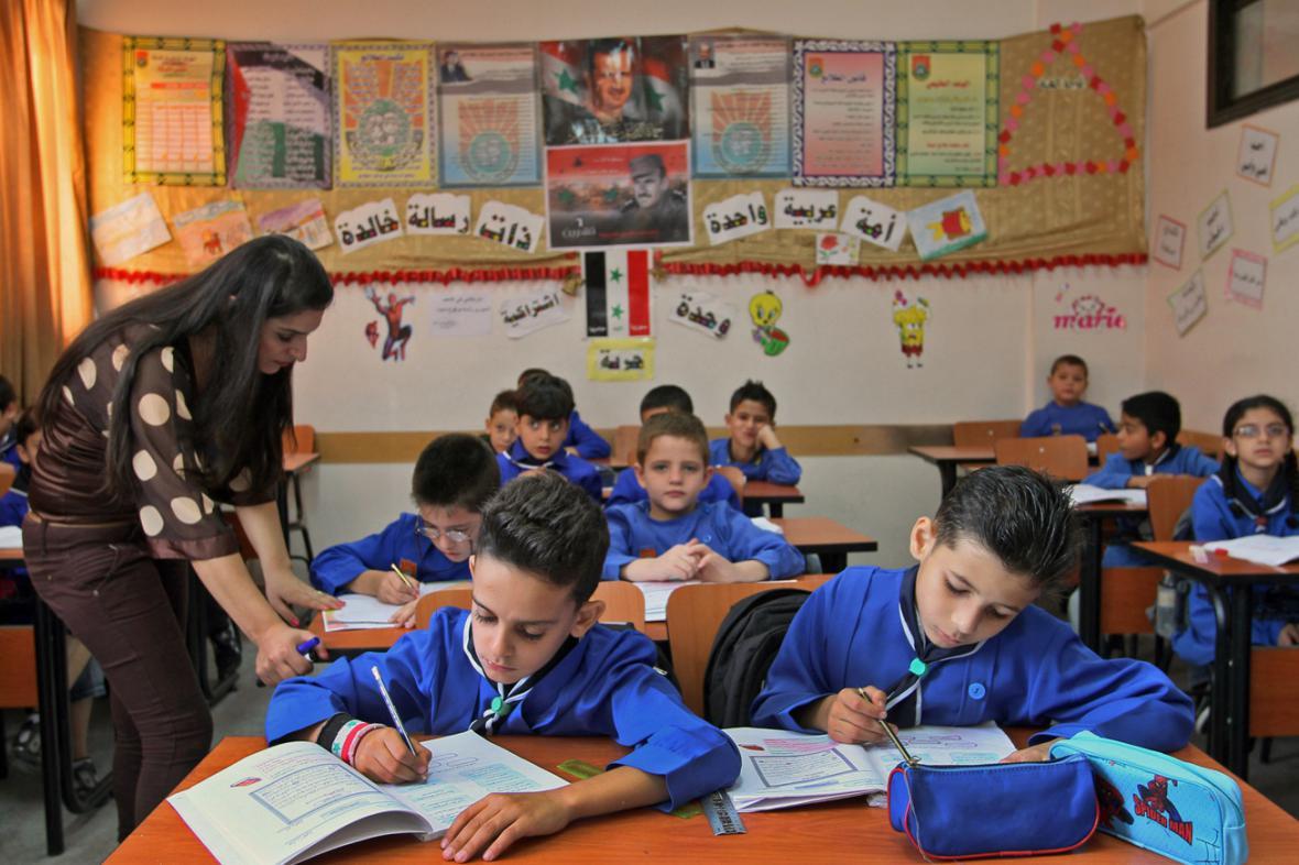 Školáci v syrském Damašku