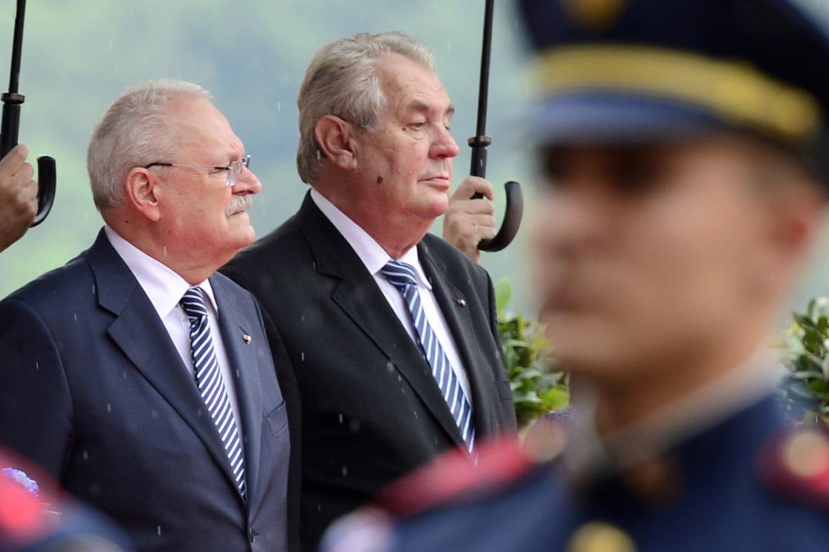 Ivan Gašparovič a Miloš Zeman