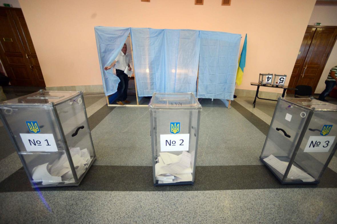Volební místnost v Krasnoarmějsku