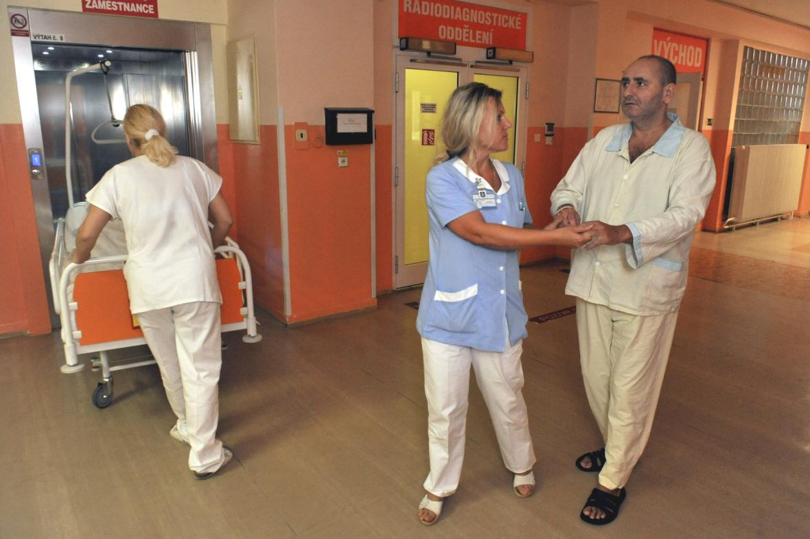 Vladimír Lipina v havířovské nemocnici