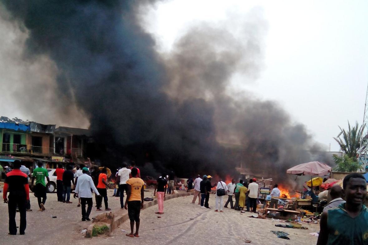 Exploze v nigerijském Josu