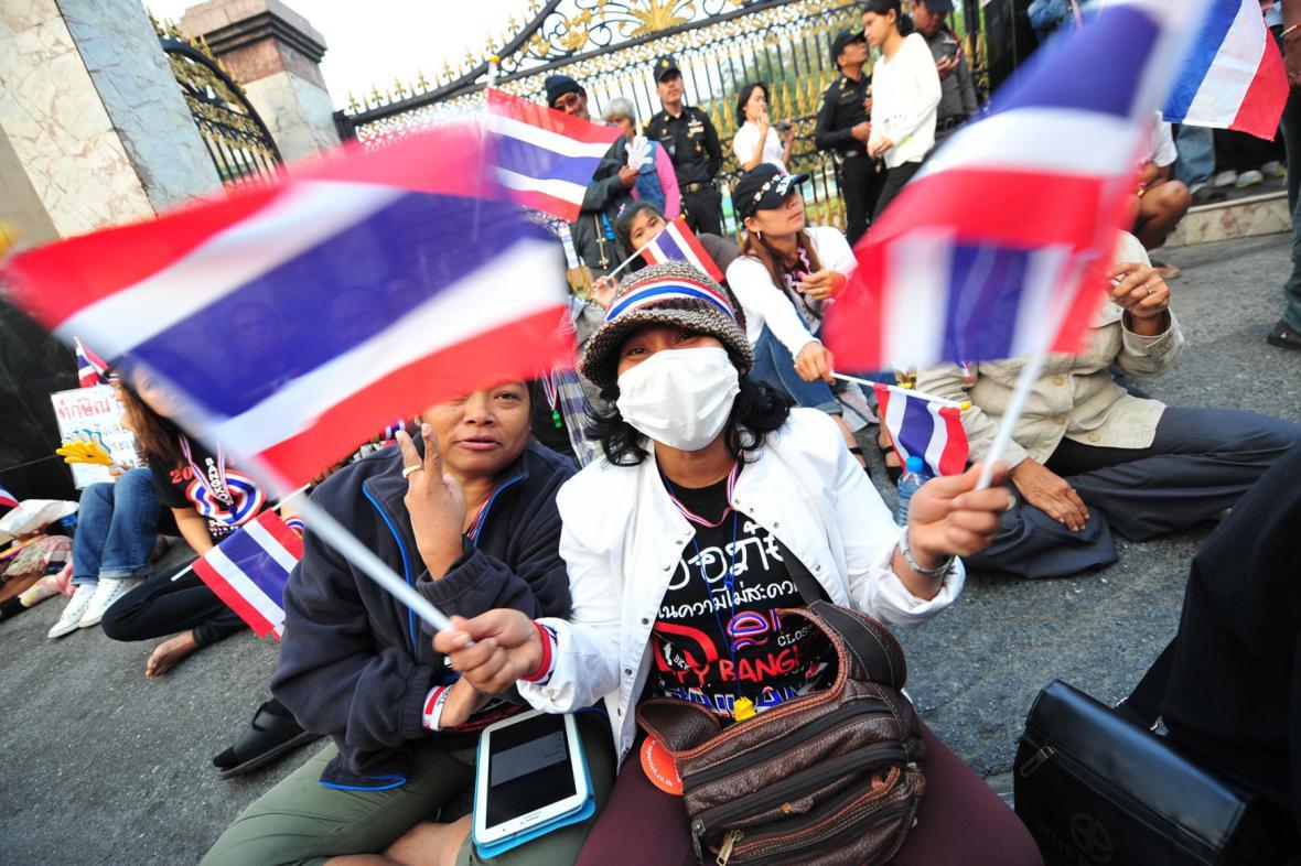 Protivládní demonstranti v Thajsku