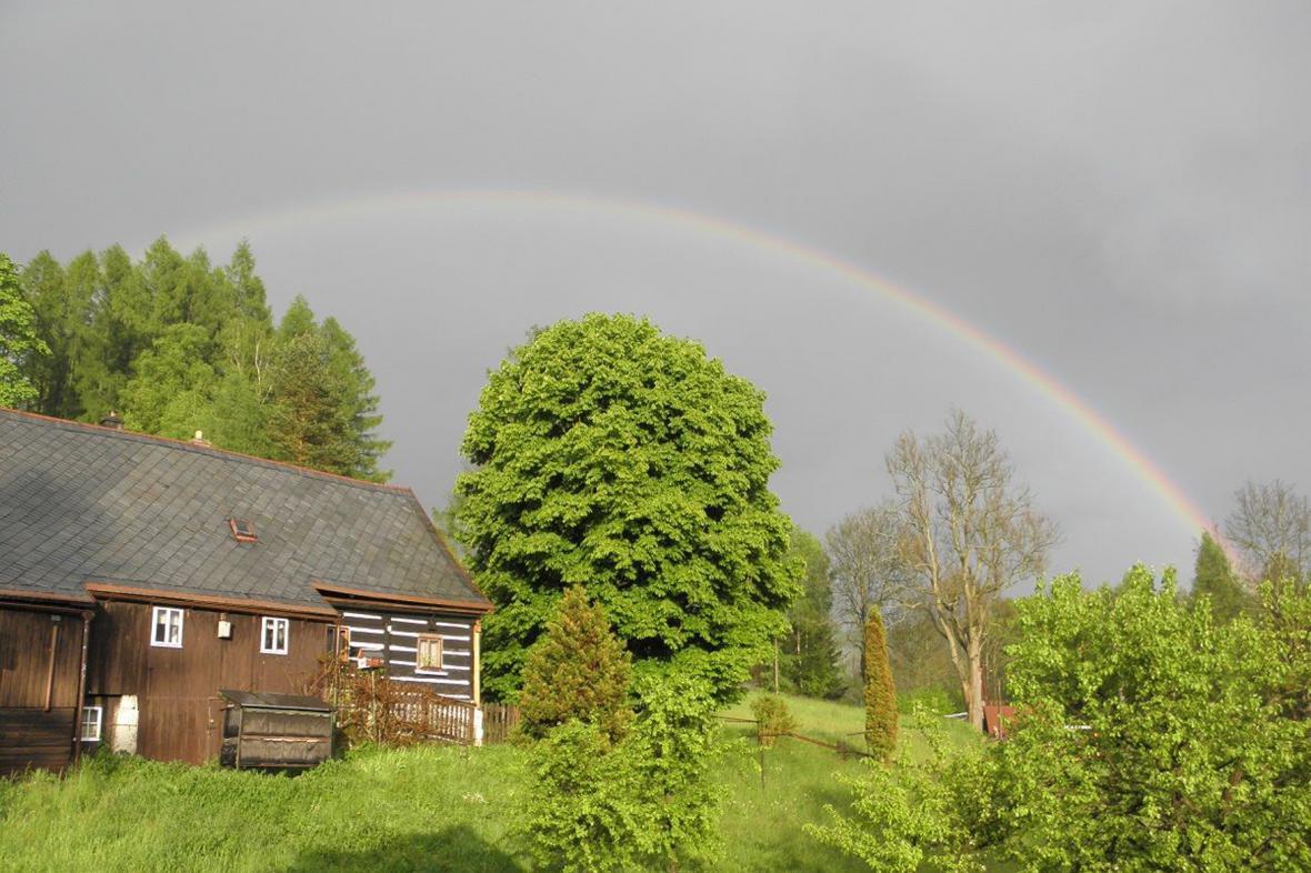 Duha po dešti v Českém Švýcarsku