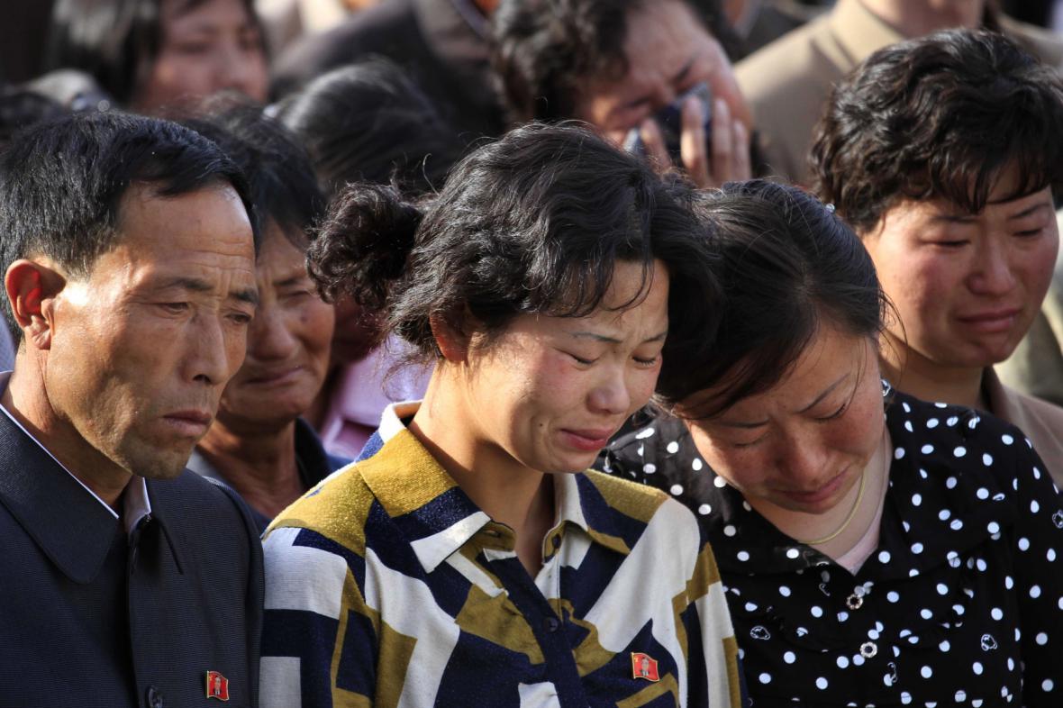 Severokorejci oplakávají oběti zřícené budovy