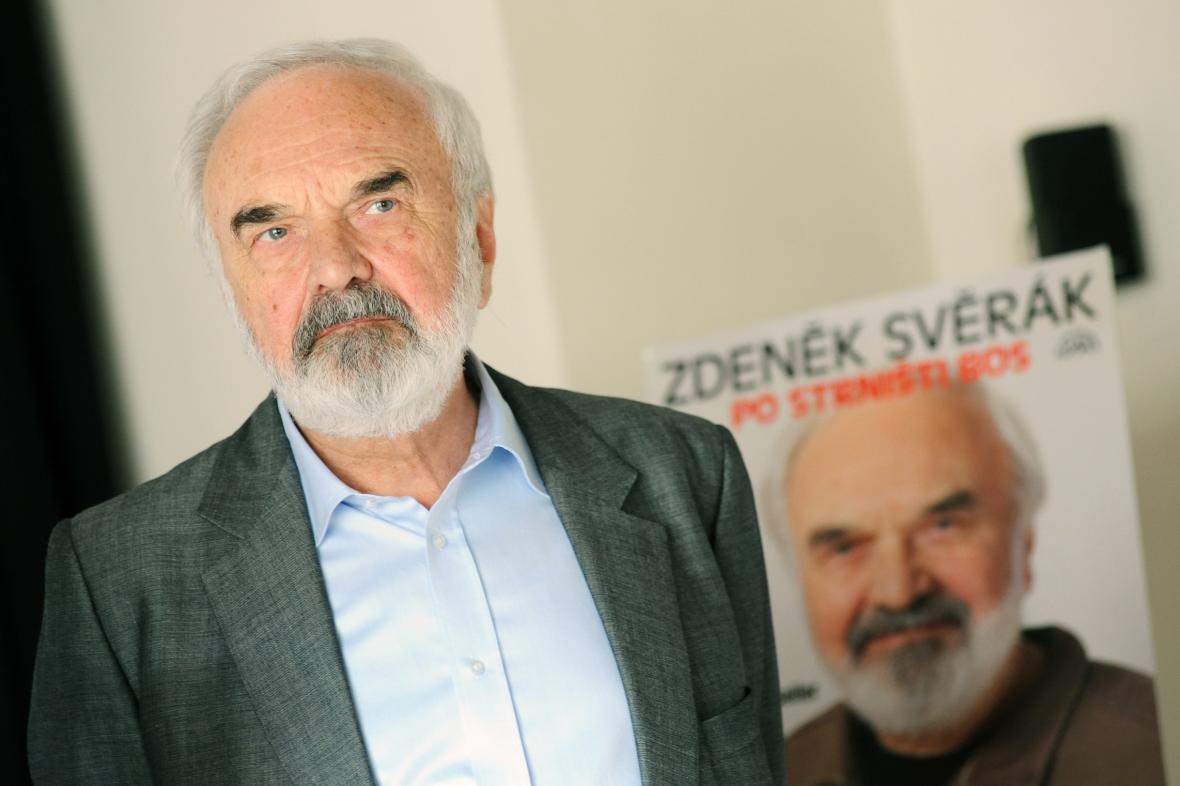 Zdeněk Svěrák na křtu své audioknihy