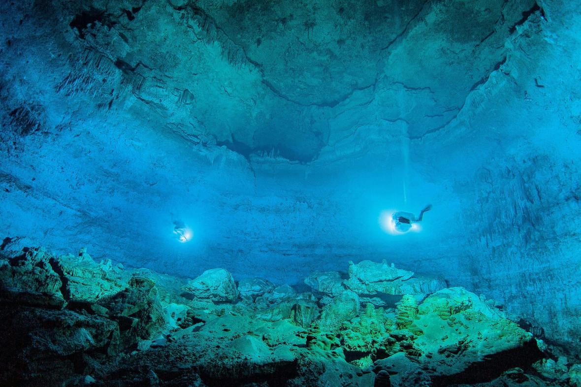 Jeskyně v Mexiku, kde byla nalezena pravěká kostra dívky
