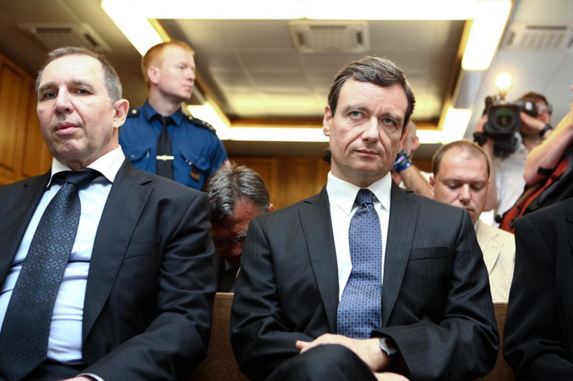 Petr Kott a David Rath před Krajským soudem v Praze