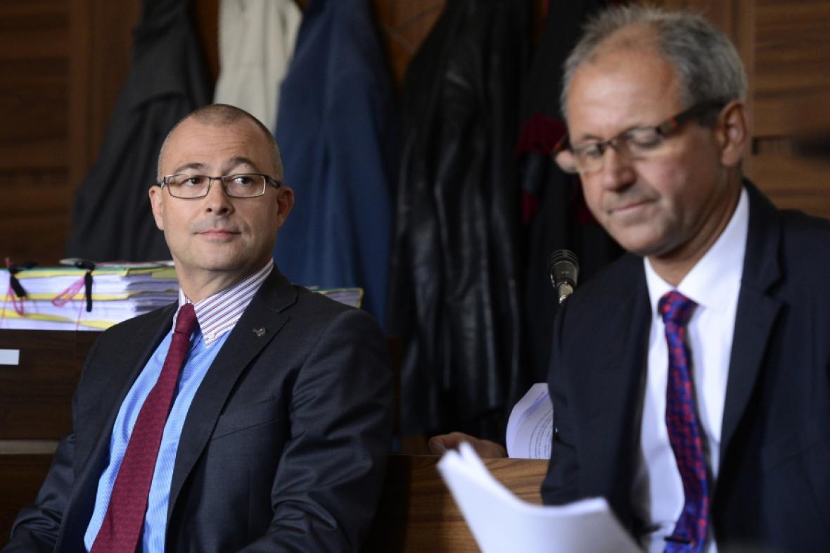 Martin Barták a Michal Smrž u soudu