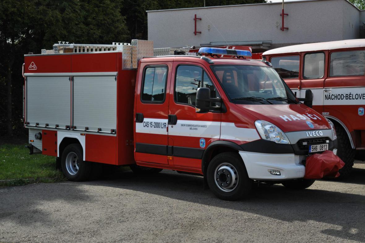 Nové auto hasičů z Náchoda - Bělovse