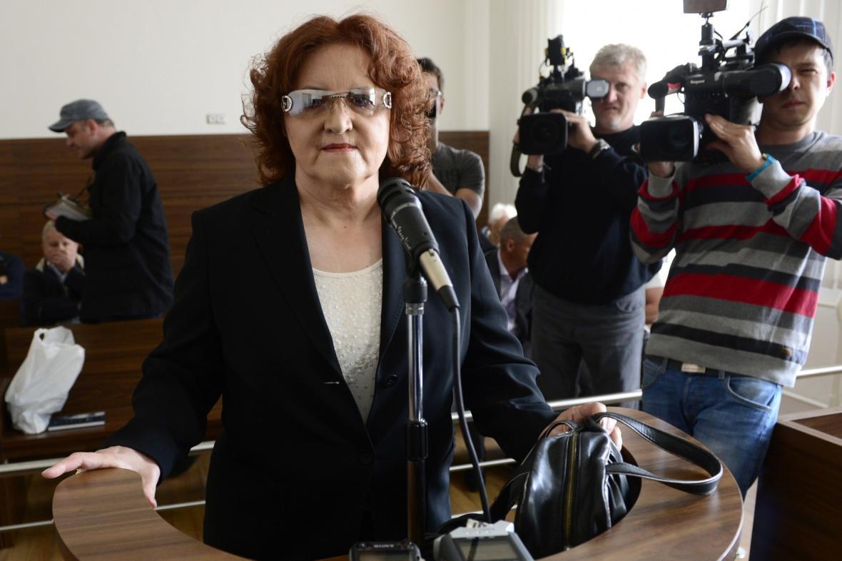 Vlasta Parkanová u soudu