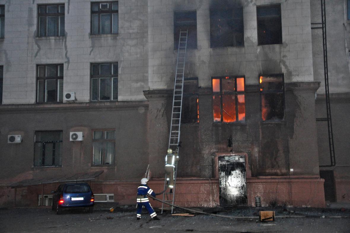 Požár Domu odborů v Oděse