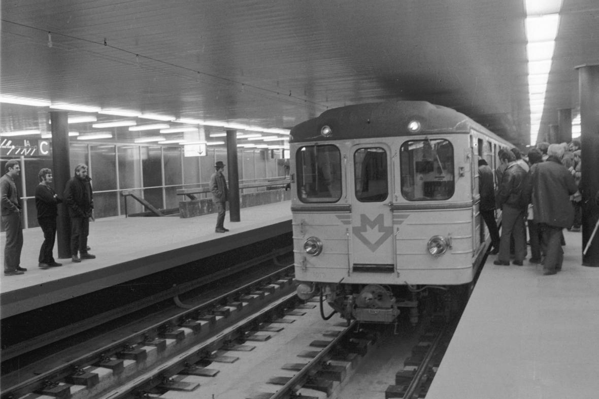 Ze zkoušek pražského metra